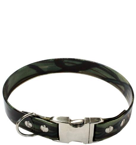 Biothane® Halsband mit Metallverschluß CAMOUFLAGE Grün (25mm) 32.5cm Camouflage Grün