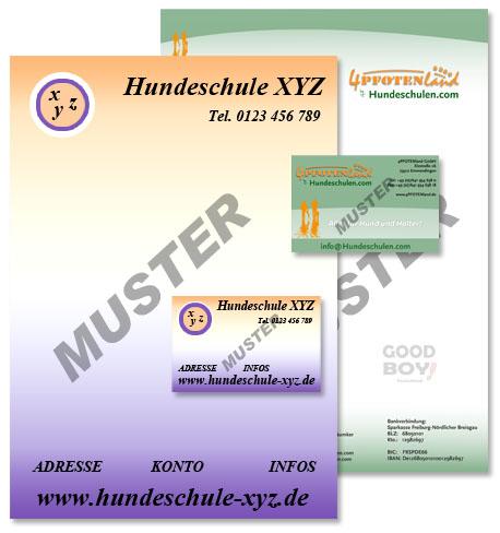 UNVERÄNDERTER FOLGEAUFTRAG - Briefpapier + Visitenkarten mit IHREM Logo (250 / 1000 St.) 1000 Stück