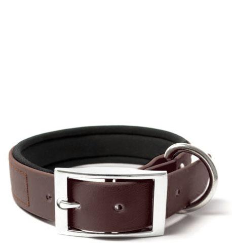 BIOTHANE® Halsband Deluxe Neopren (25mm) Braun 45 - 53 cm