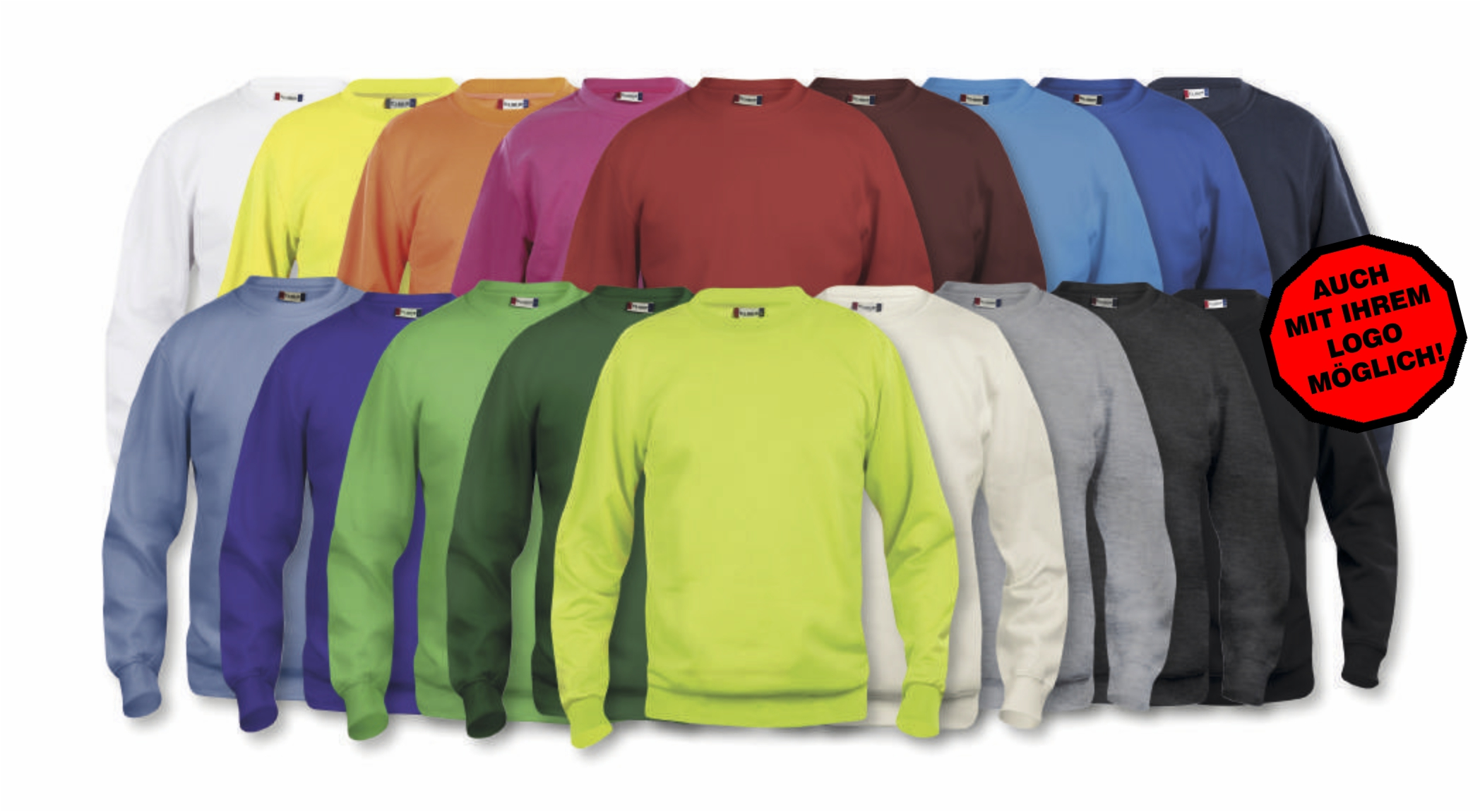 CLIQUE Basic Rundhals Sweatshirt UNISEX  M 56 Blau