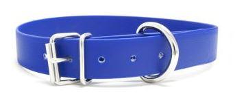 Biothane® Halsband mit Rollenschnalle / blau 25mm 40 - 48cm Halsumfang
