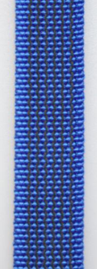 Gummierte Leine genäht 15mm mit Handschlaufe  20.00m blau