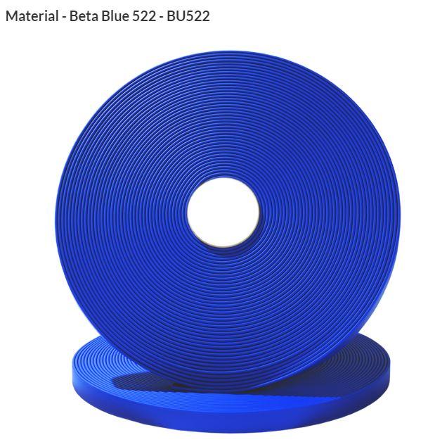 Original Biothane® Material / ganze Rollen  16mm blau (BU522)