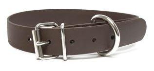 Biothane® Halsband mit Rollenschnalle / braun 19mm 50 - 58cm Halsumfang
