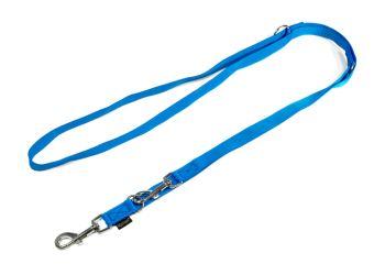 Mystique® Nylon Doppelführleine in drei Längen 2.00m  blau
