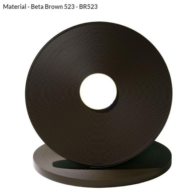 Original Biothane® Material / ganze Rollen  25mm braun (BR523)