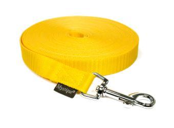 Mystique® Leinen Nylon 20mm mit Handschlaufe 5.00m  gelb
