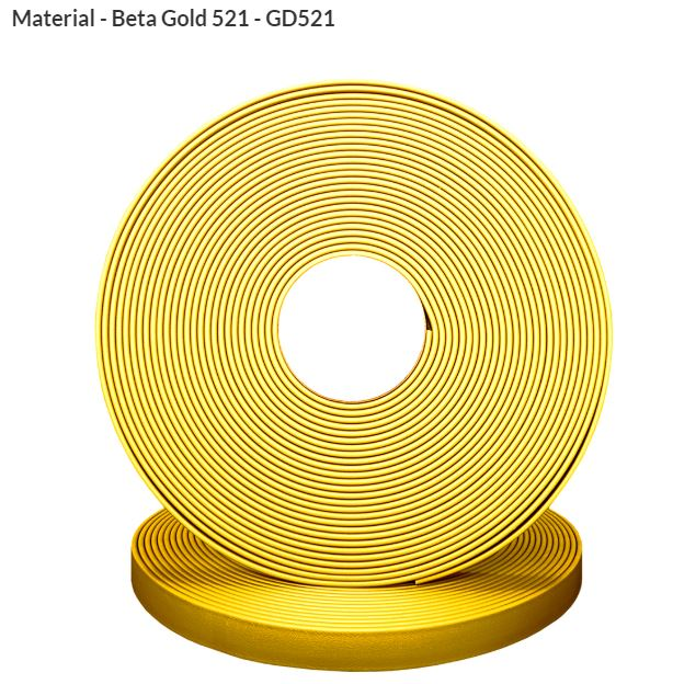 ORIGINAL Biothane® Meterware 9mm  10.00m gold (GD521)