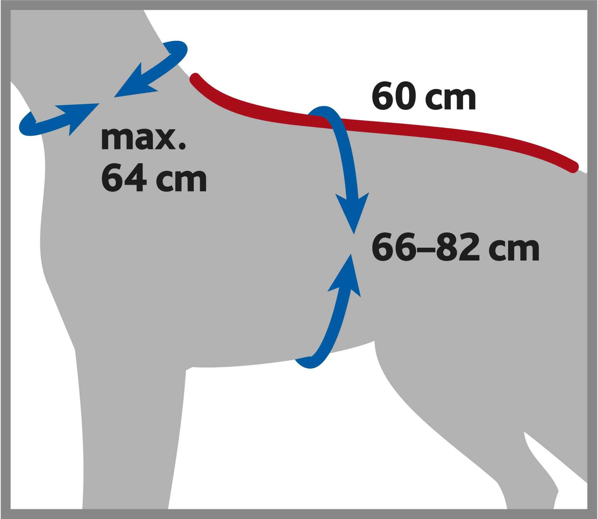 TRIXIE Bademantel für Hunde, Frottee TRIXIE Bademantel für Hunde, Frottee, L: 60 cm, grau