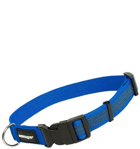 Mystique® Gummiertes Halsband 25mm 30-40cm  blau