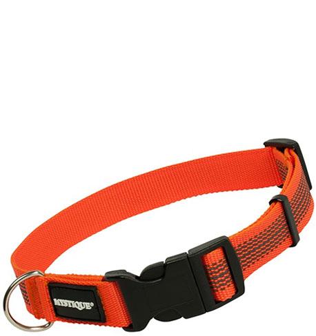Mystique® Gummiertes Halsband 25mm  40-50cm  orange