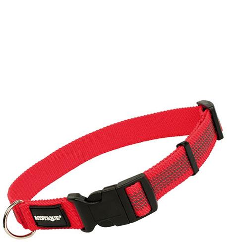 Mystique® Gummiertes Halsband 25mm  55-65cm  rot