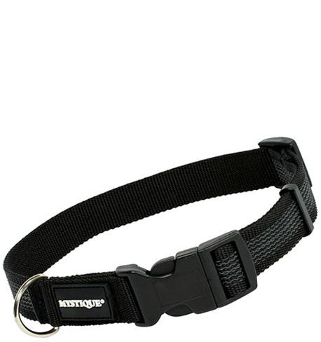 Mystique® Gummiertes Halsband 25mm  55-65cm schwarz