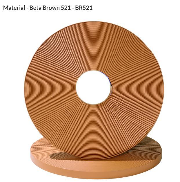 Original Biothane® Material / ganze Rollen  19mm hellbraun (BR521)