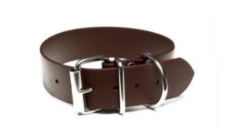Mystique® Biothane® Halsband Klassik 32mm und 38mm breit 32mm  45-53cm braun