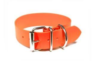 Mystique® Biothane® Halsband Klassik 32mm und 38mm breit 32mm  45-53cm neonorange