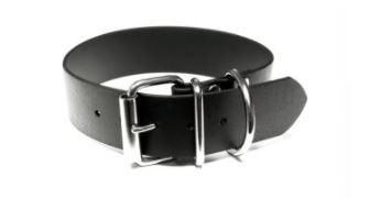 Mystique® Biothane® Halsband Klassik 32mm und 38mm breit 32mm  45-53cm schwarz