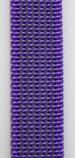 Gummierte Leine genäht 15mm mit Handschlaufe  20.00m lila