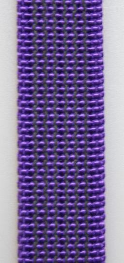 Gummierte Leine genäht 20mm mit Handschlaufe 20.00m lila