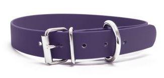 Biothane® Halsband mit Rollenschnalle / lila 25mm 35 - 43cm Halsumfang