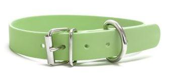 Biothane® Halsband mit Rollenschnalle / mintgrün 25mm 40 - 48cm Halsumfang