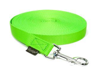 Mystique® Leinen Nylon 20mm  ohne Handschlaufe 7.50m  neongrün