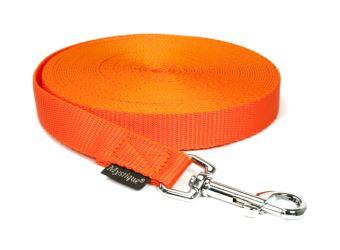 Mystique® Leinen Nylon 20mm mit Handschlaufe 5.00m  neonorange