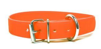 Biothane® Halsband mit Rollenschnalle /neonorange 25mm 40 - 48cm Halsumfang
