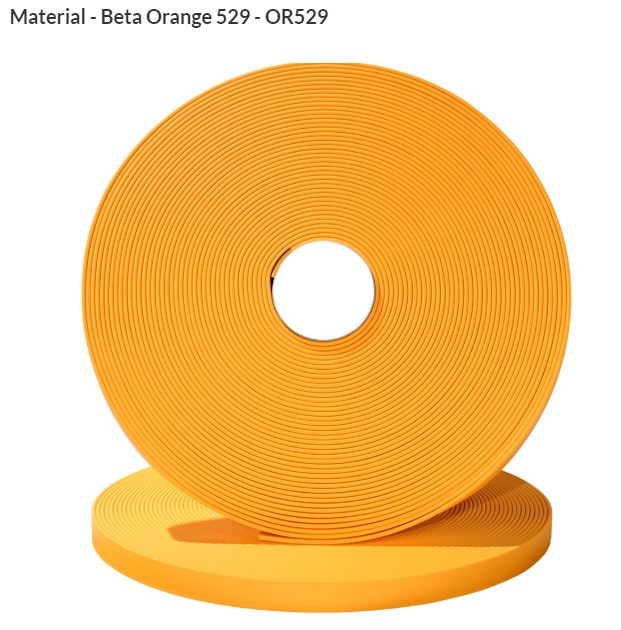 Original Biothane® Material / ganze Rollen  19mm orange (OR529)