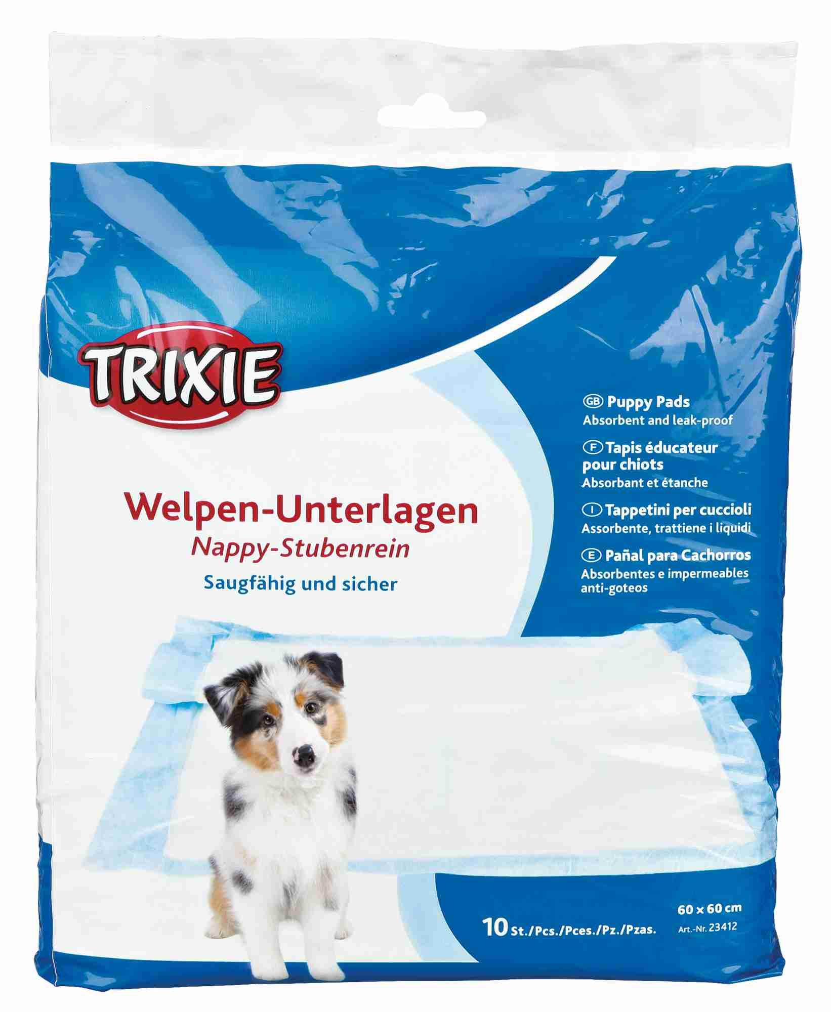 TRIXIE Welpen-Unterlage Nappy TRIXIE Hygiene-Unterlage Nappy, 60 × 60 cm, 10 St.