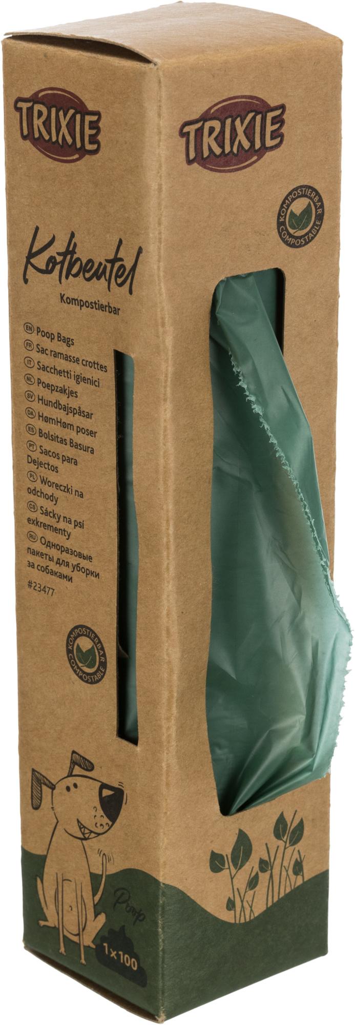 TRIXIE Hundekotbeutel, kompostierbar TRIXIE Hundekotbeutel, kompostierbar, 100 Btl., waldgrün