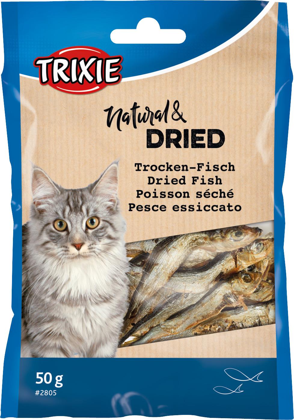 TRIXIE Trockenfisch für Katzen, 50 g
