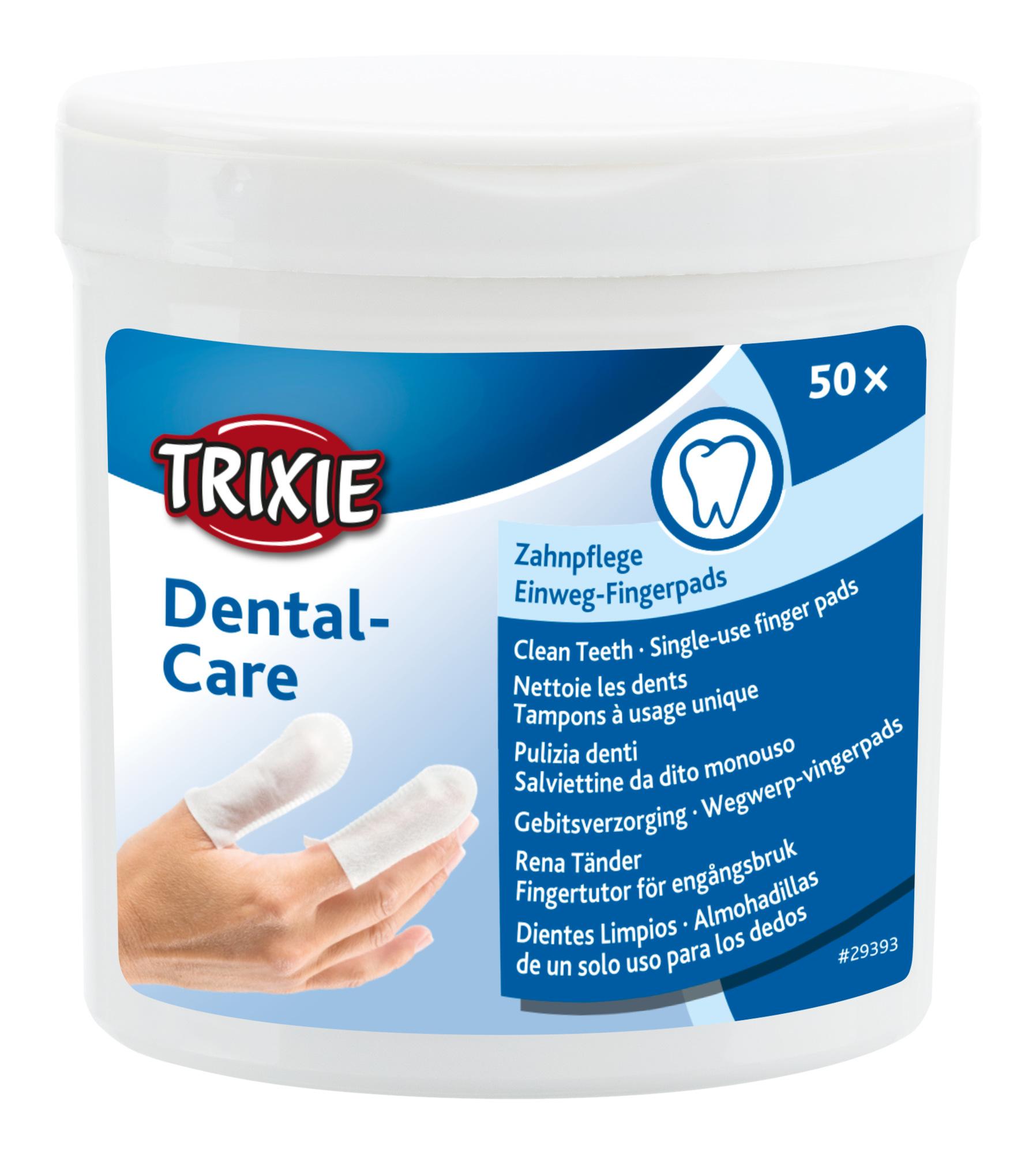 TRIXIE Dental Care Zahnpflege, Fingerpads, 50 St.