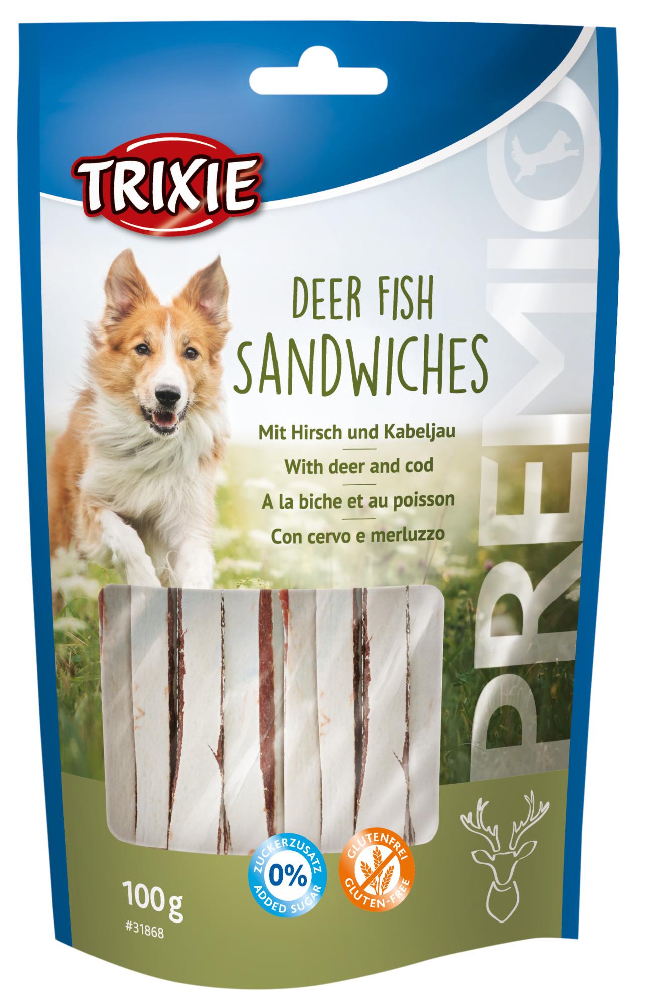 TRIXIE PREMIO Deer Fish Sandwiches, 100 g