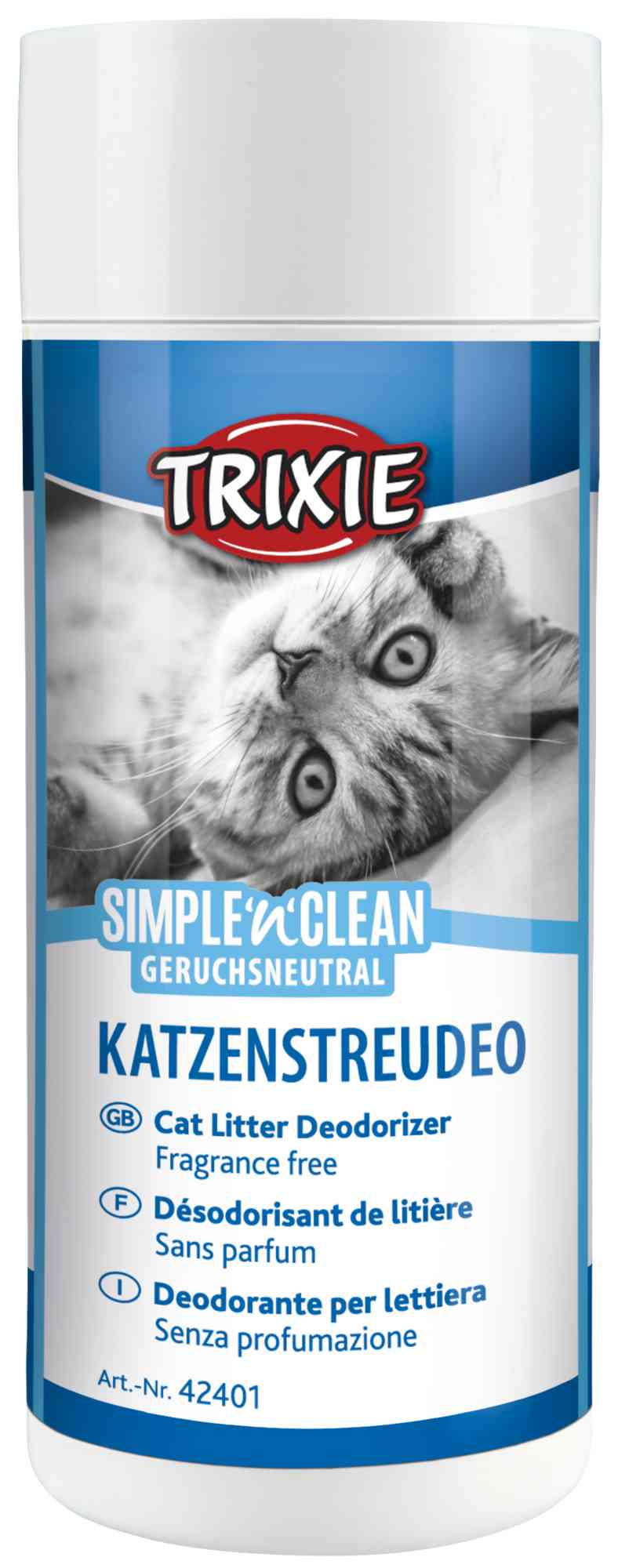 TRIXIE Simple'n'Clean Katzenstreudeo, geruchsneutral, 200 g