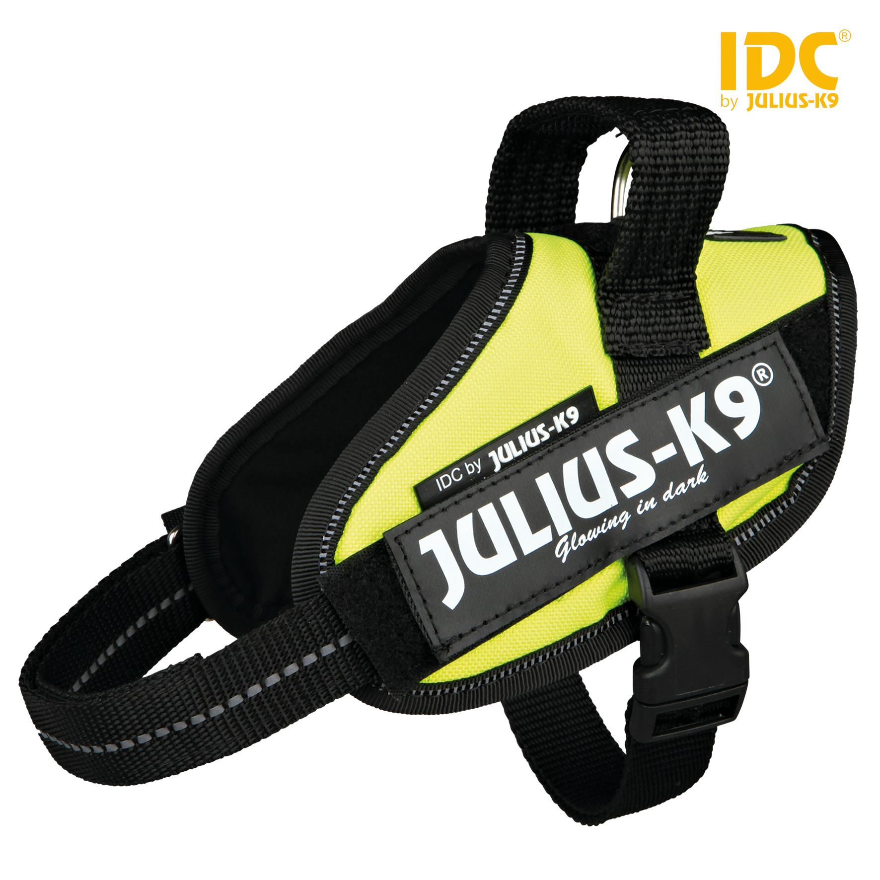 TRIXIE Julius-K9 IDC Powergeschirr Baby 2/Mini-Mini/Mini TRIXIE Julius-K9® IDC® Powergeschirr®, XS/Mini-Mini: 40–53 cm/22 mm, neongrün
