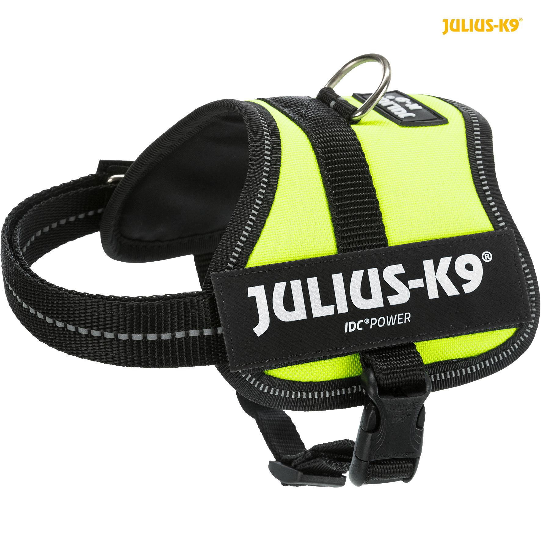 TRIXIE Julius-K9® Powergeschirr® TRIXIE K9®Powergeschirr®, 2XS/Baby 2: 33–45 cm/18 mm, neongrün