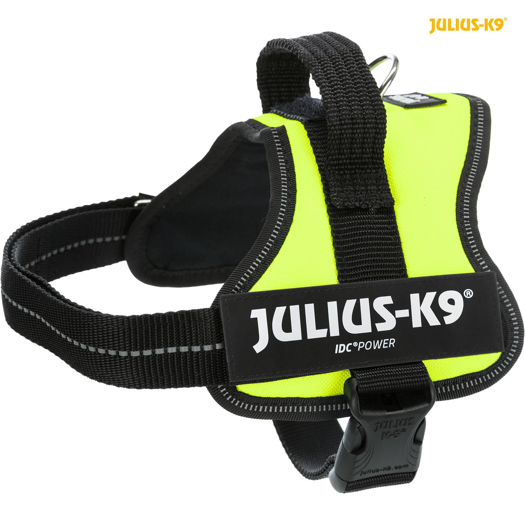 TRIXIE Julius-K9® Powergeschirr® TRIXIE K9®Powergeschirr®, S/Mini: 51–67 cm/28 mm, neongrün