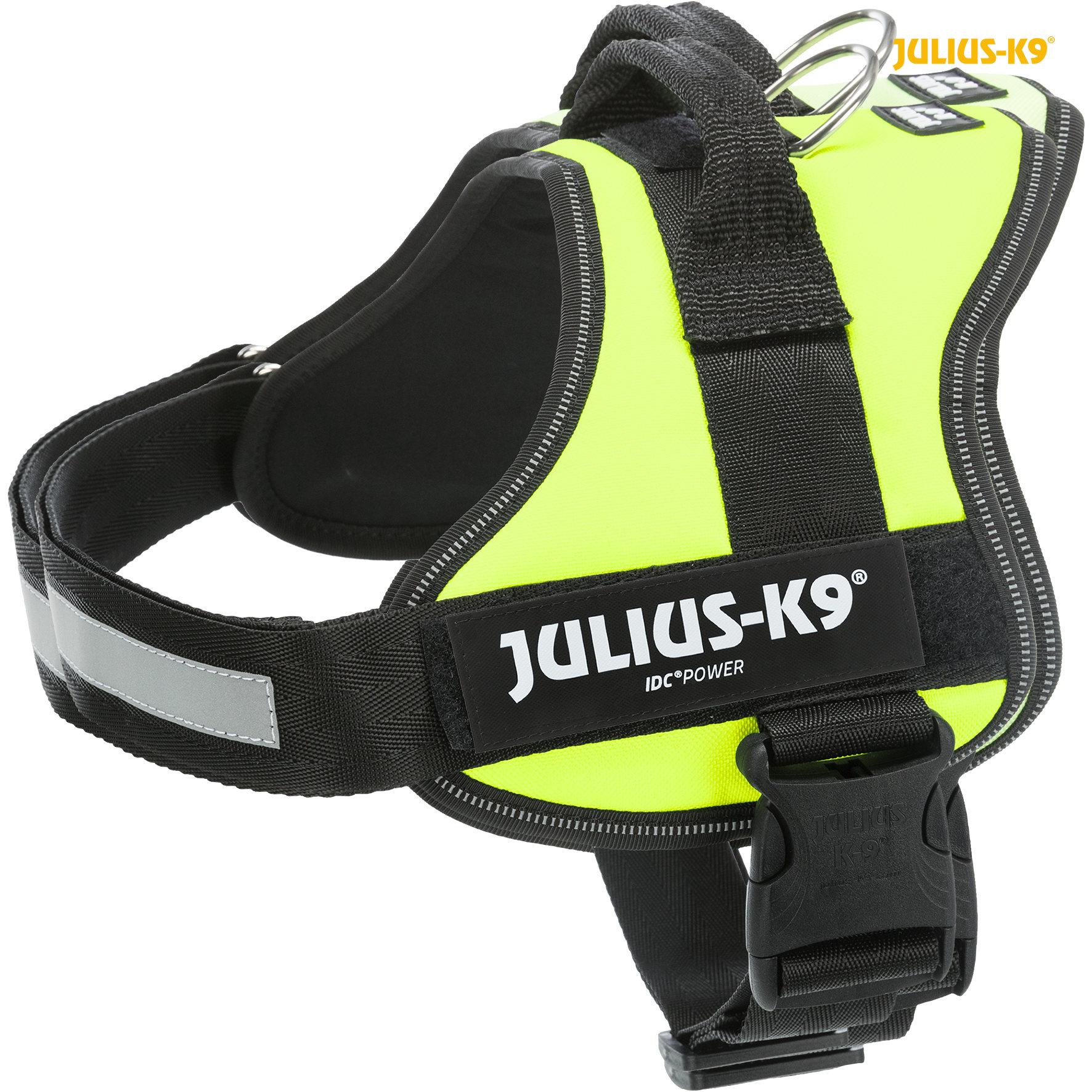 TRIXIE Julius-K9® Powergeschirr® TRIXIE K9®Powergeschirr®, M/0: 58–76 cm/40 mm, neongrün