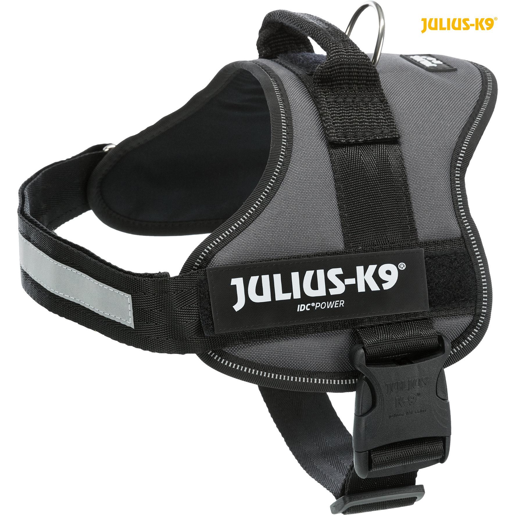 TRIXIE Julius-K9® Powergeschirr® TRIXIE K9®Powergeschirr®, M/0: 58–76 cm/40 mm, anthrazit