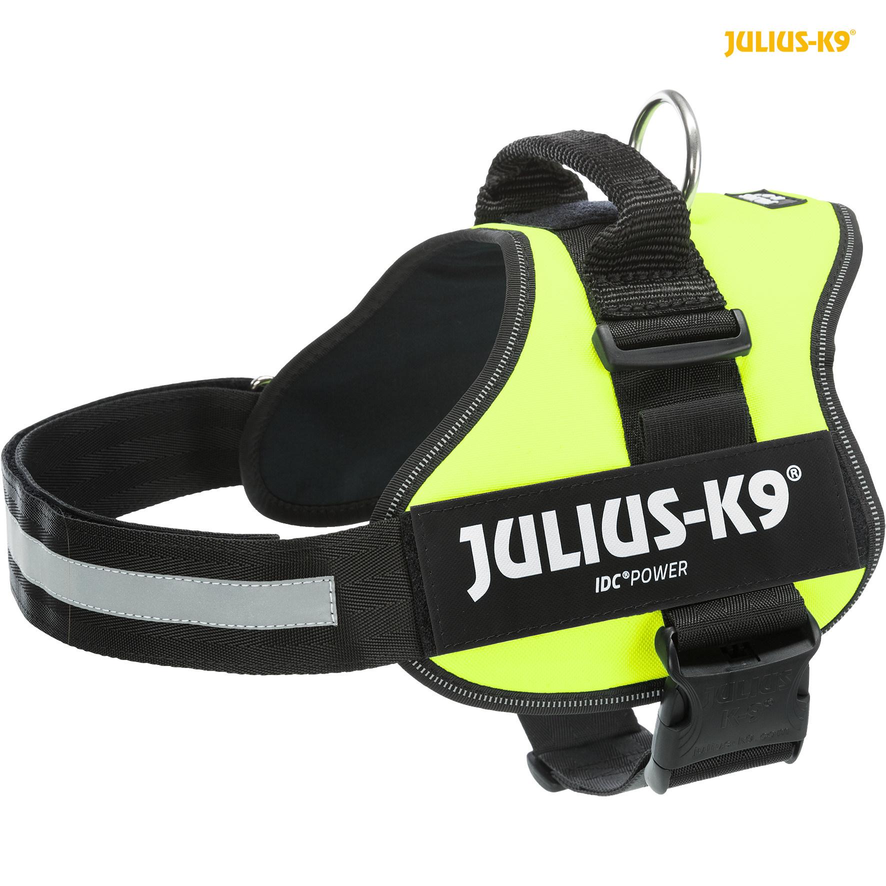 TRIXIE Julius-K9® Powergeschirr® TRIXIE K9®Powergeschirr®, L/1: 66–85 cm/50 mm, neongrün