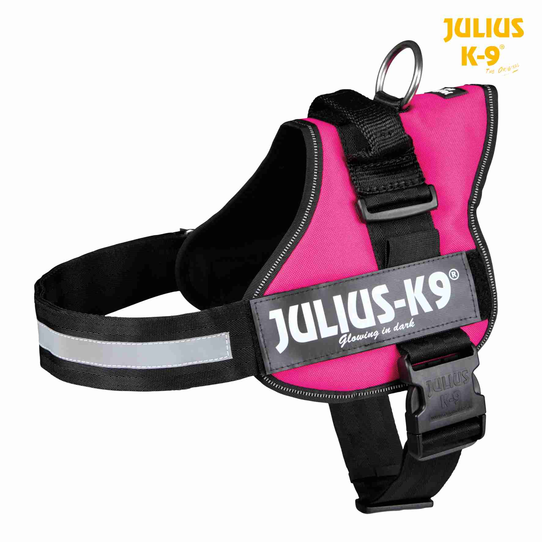 TRIXIE Julius-K9 Powergeschirr Gr. 0-3 TRIXIE Julius-K9® Powergeschirr®, 2XL/3: 82–116 cm/50 mm, fuchsia