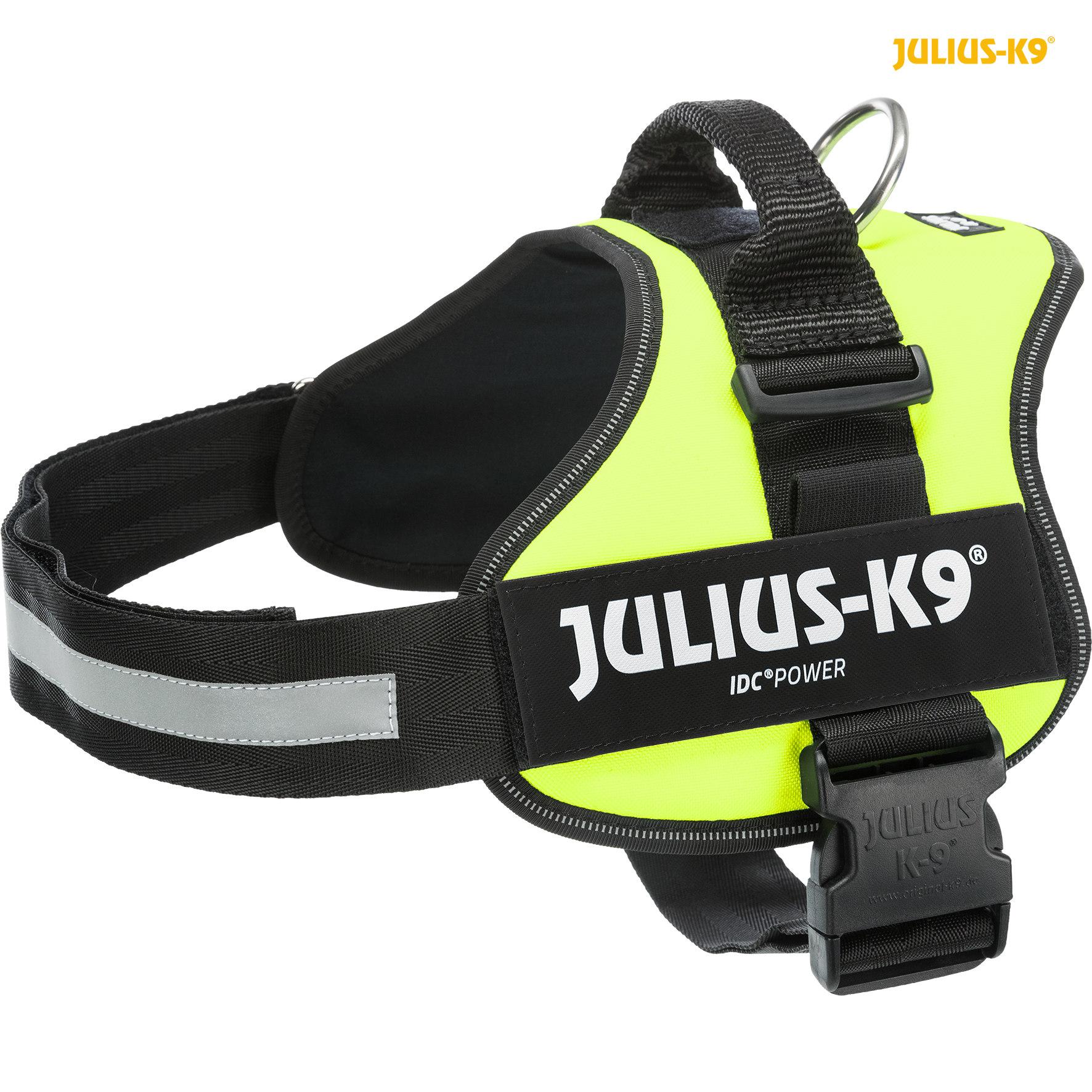 TRIXIE Julius-K9® Powergeschirr® TRIXIE K9®Powergeschirr®, XL/2: 71–96 cm/50 mm, neongrün
