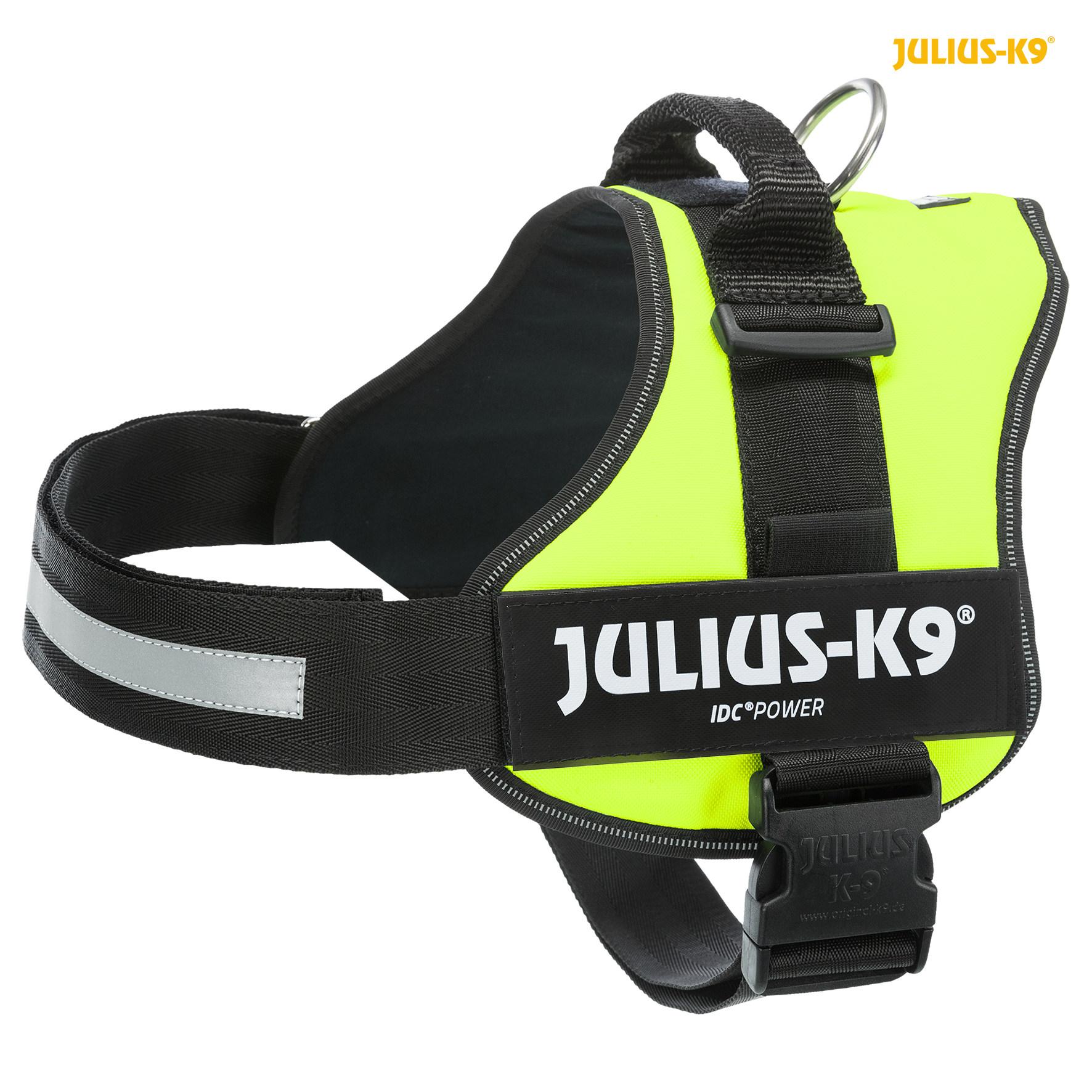 TRIXIE Julius-K9® Powergeschirr® TRIXIE K9®Powergeschirr®, 2XL/3: 82–116 cm/50 mm, neongrün