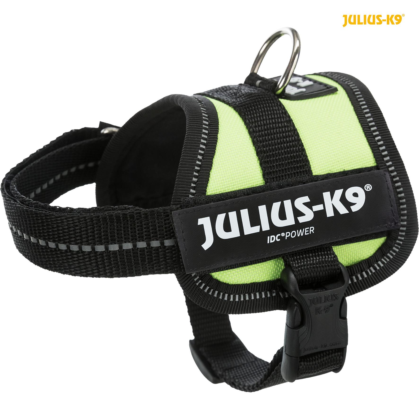 TRIXIE Julius-K9® Powergeschirr® TRIXIE K9®Powergeschirr®, 3XS/Baby 1: 26–36 cm/18 mm, neongrün