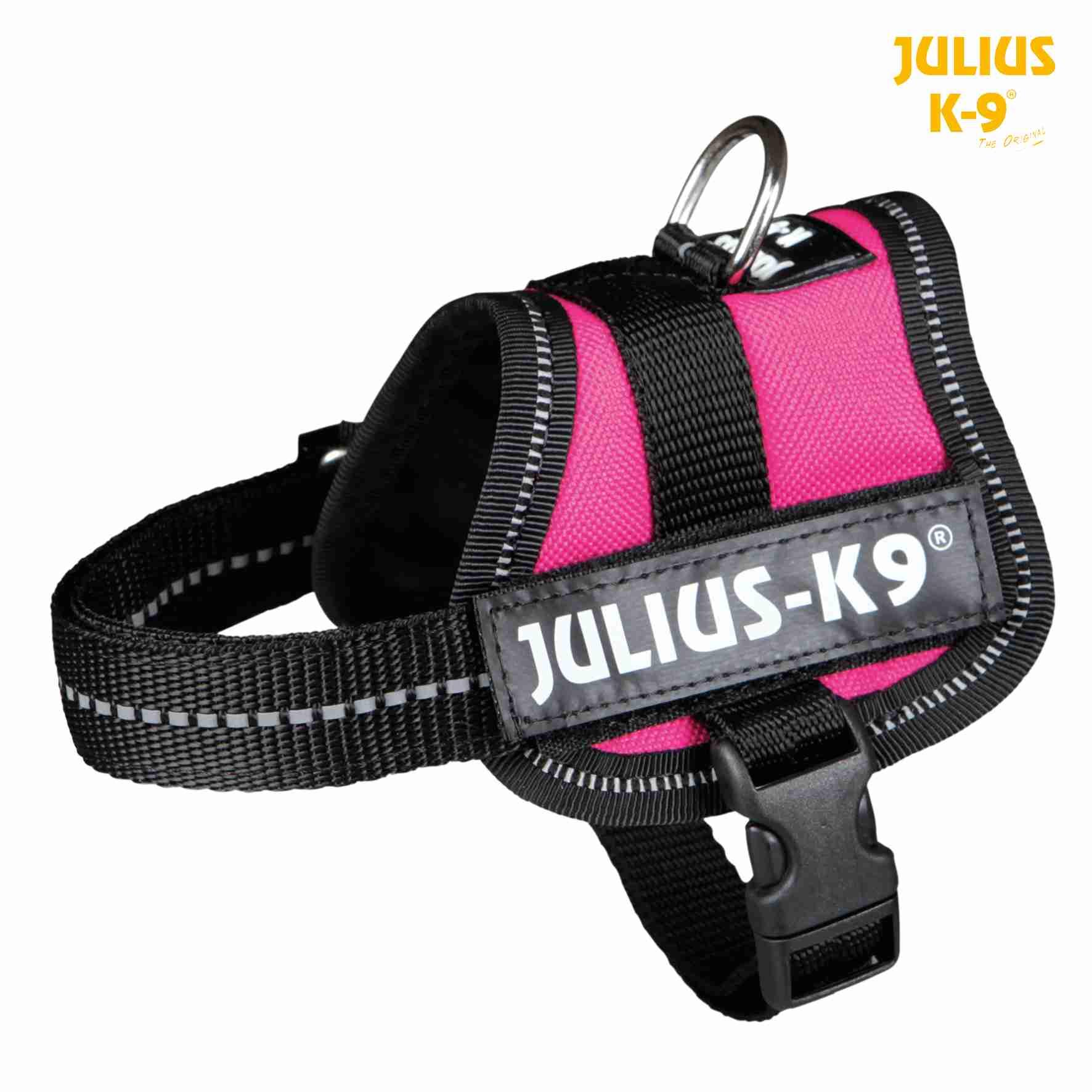 TRIXIE Julius-K9® Powergeschirr Baby 1 TRIXIE Julius-K9® Powergeschirr®, 3XS/Baby 1: 26–36 cm/18 mm, fuchsia