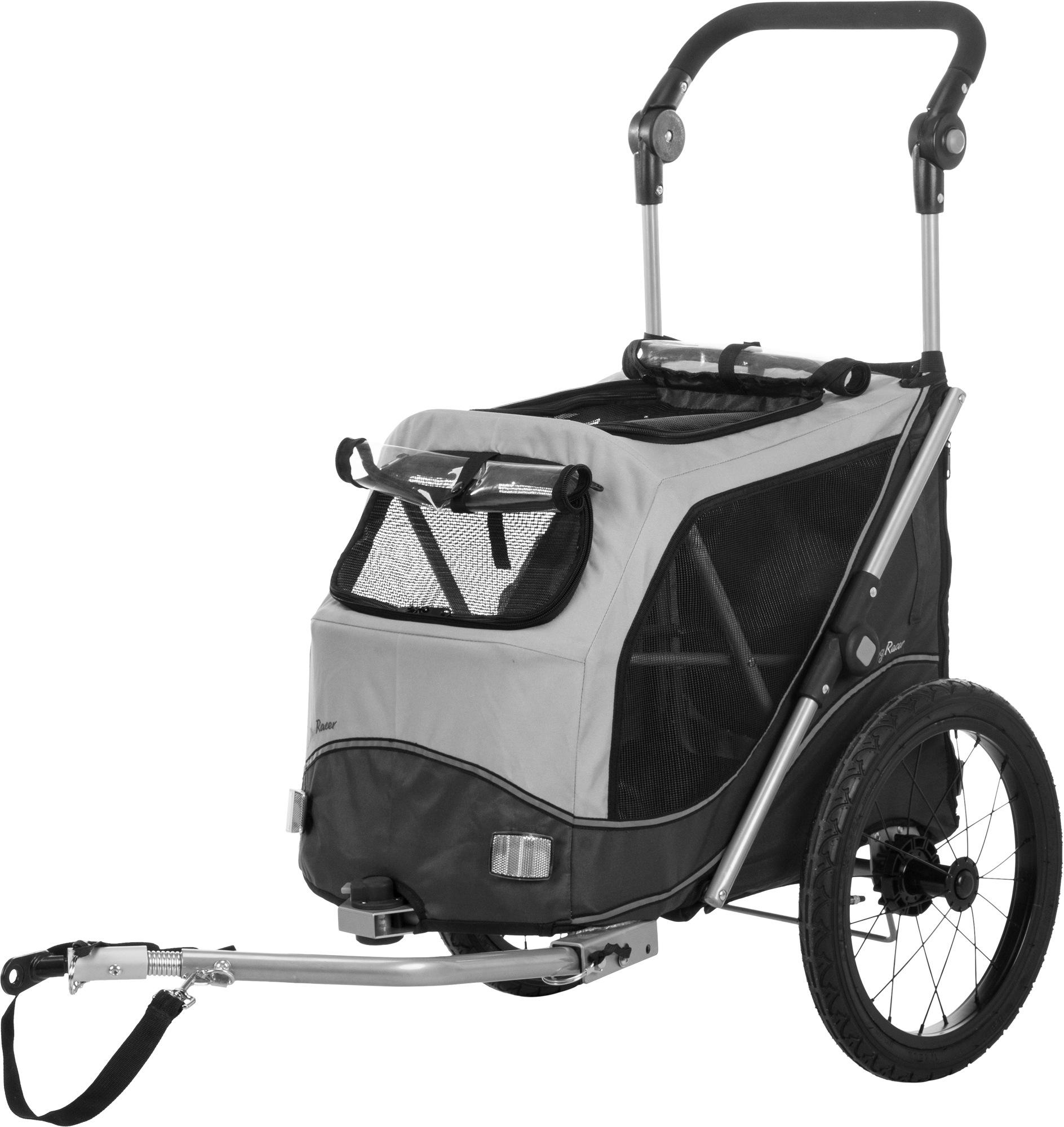 TRIXIE Fahrrad-Anhänger, faltbar TRIXIE Fahrrad-Anhänger, Schnell-Falt-Funktion, L: 74 × 95 × 103/143 cm, grau