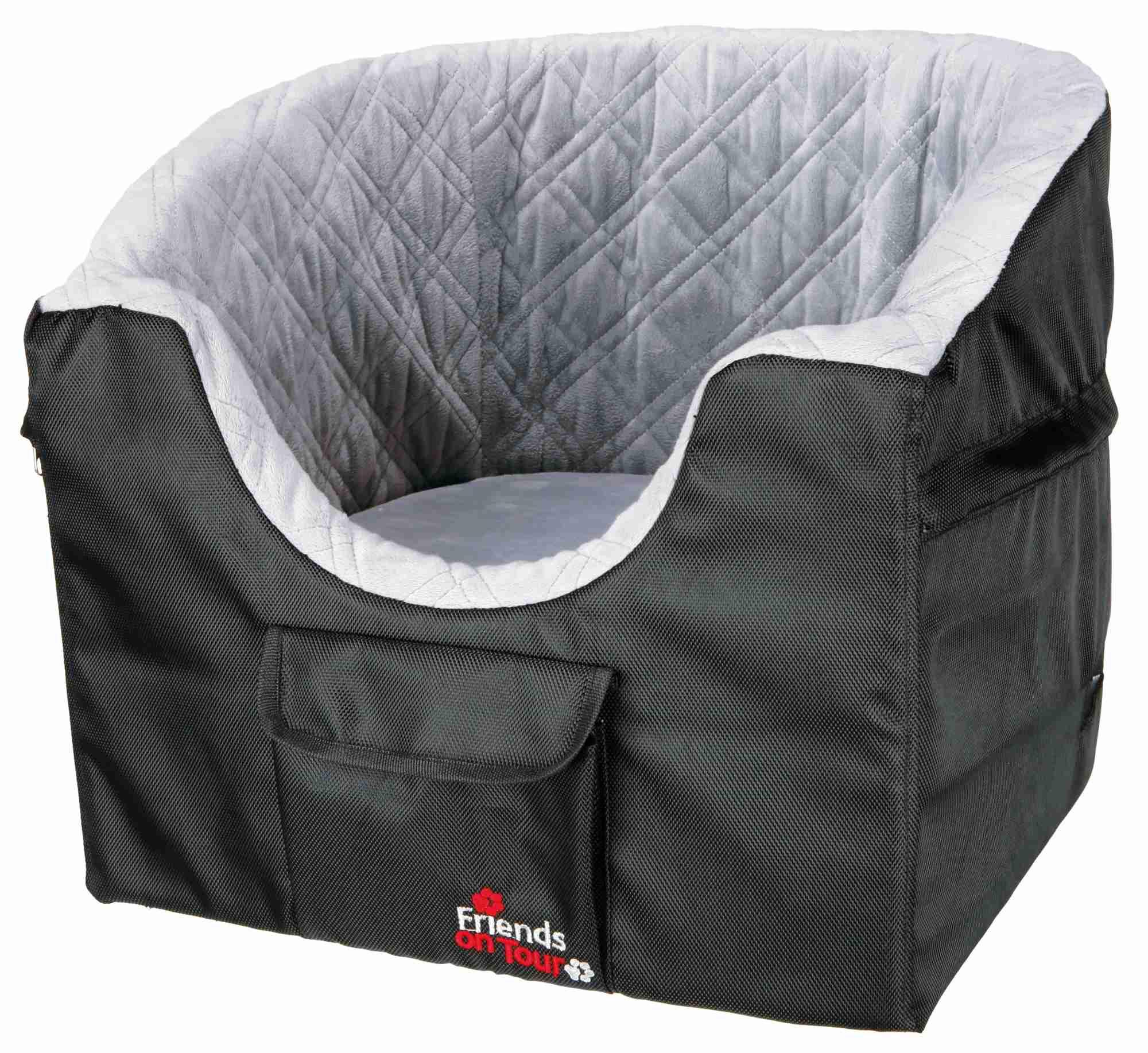 TRIXIE Auto-Sitz, 45 × 39 × 42 cm, schwarz/grau