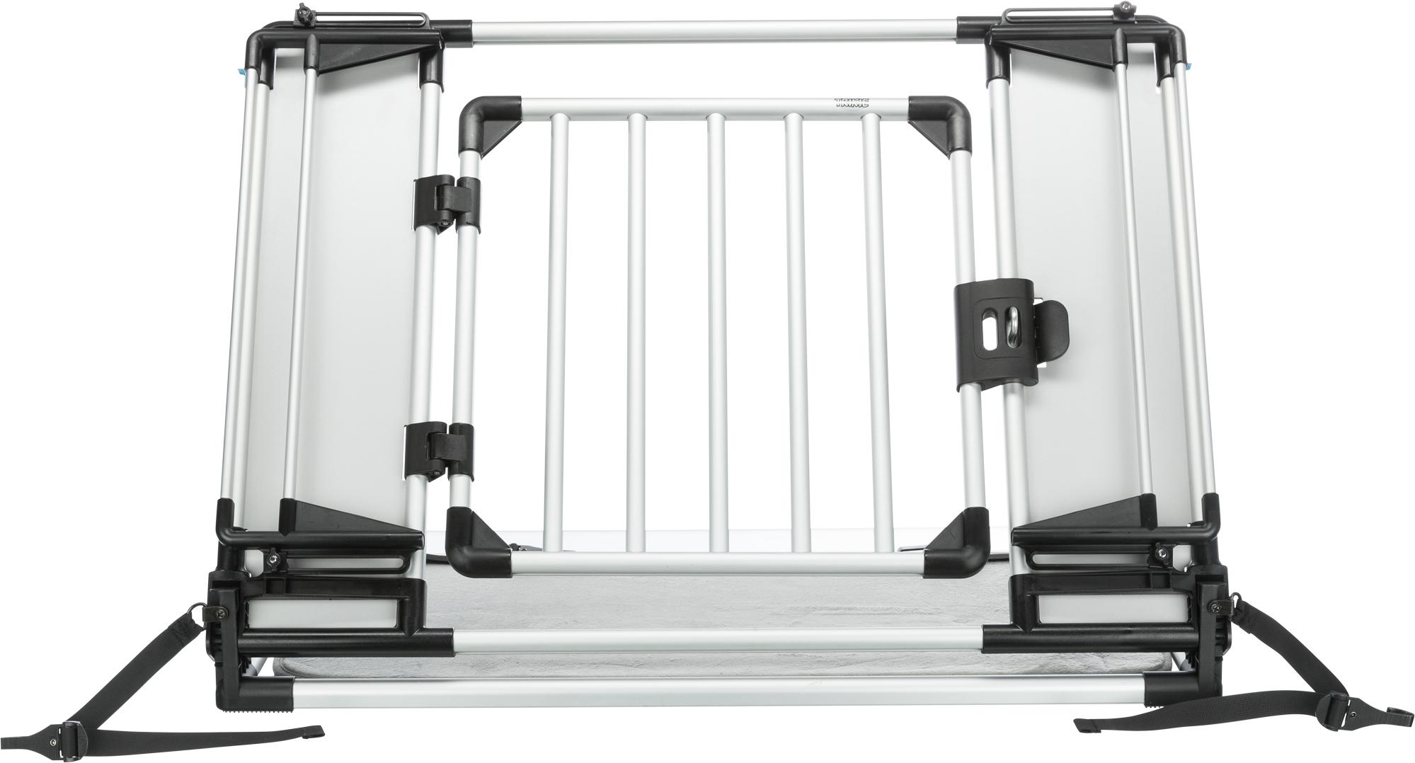 TRIXIE Universal-Heckgitter, 94–114 × 69 cm, silber/schwarz