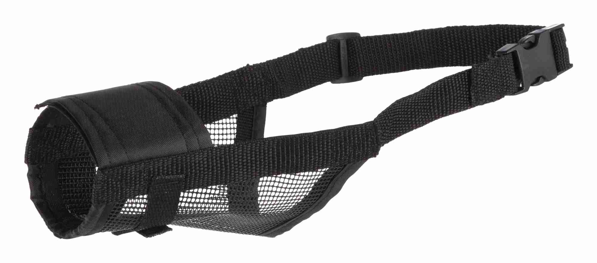 TRIXIE Maulkorb mit Netzeinsatz, Polyester TRIXIE Maulkorb mit Netzeinsatz, Polyester, L: 26–42 cm, schwarz